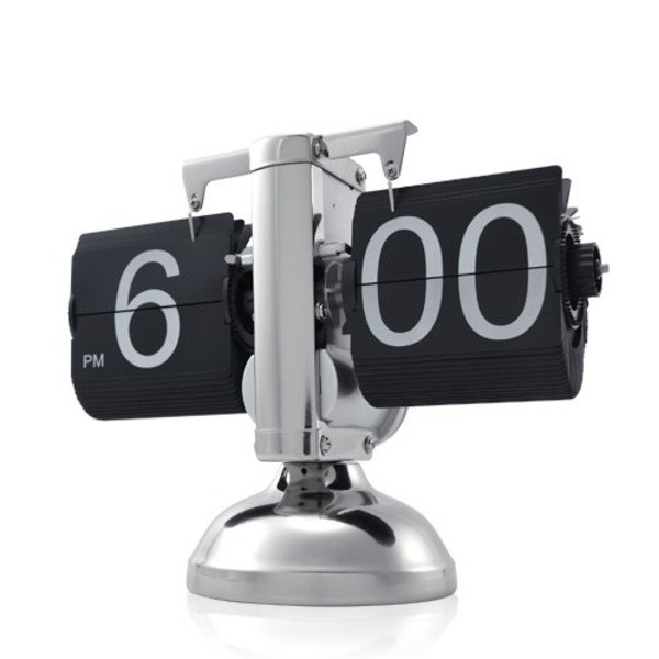 Niceeshop Retro Flip Down Clock, Internal Gear Operated