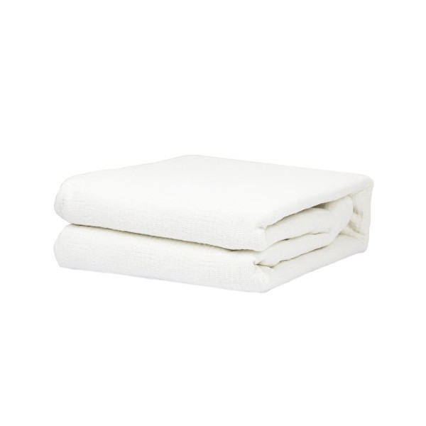 Twin Size 100% Cotton Thermal Blanket (White Color)