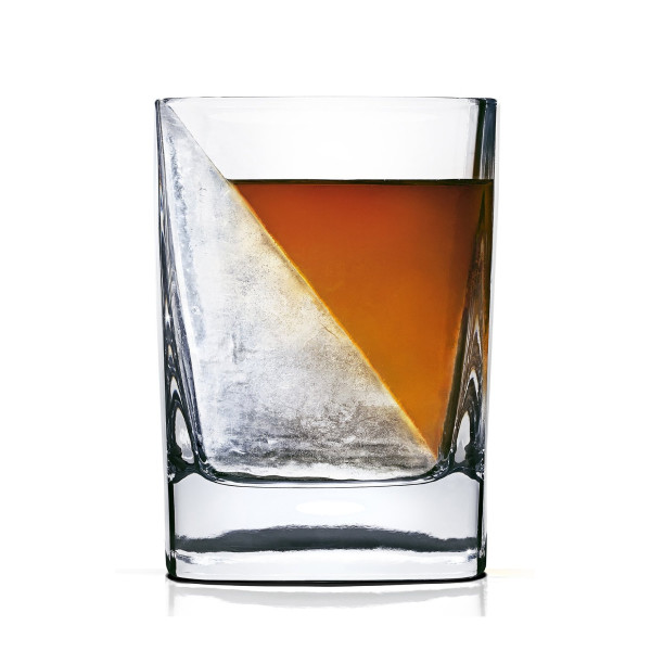 Corkcicle Whiskey Wedge Whiskey Glass with Silicone Ice Form