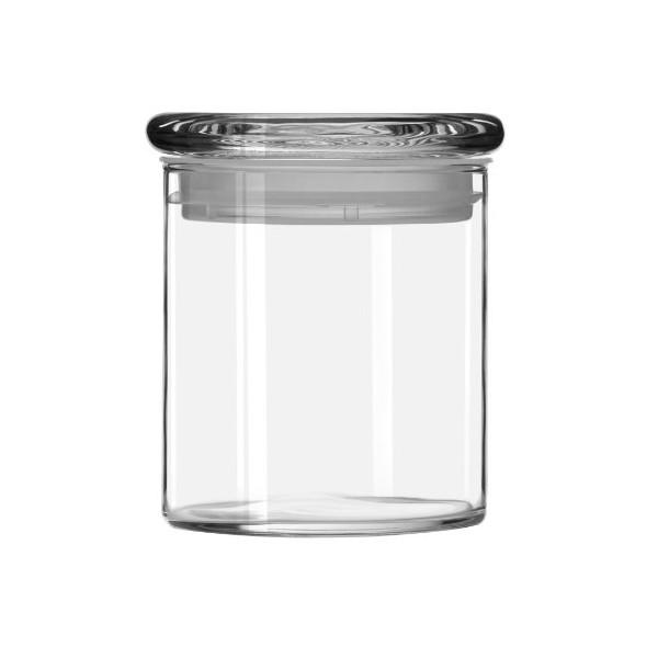 Libbey Cylinder Jar with Glass Lid, 22oz, Set of 6