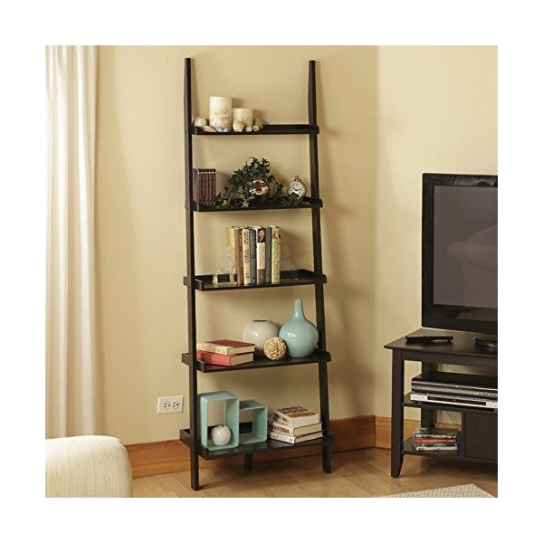 Convenience Concepts 8043391-BL American Heritage Bookshelf Ladder, Black