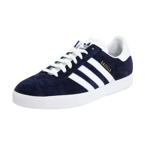 adidas Originals Men's Gazelle Shoe,Marine/Run White,9.5 M