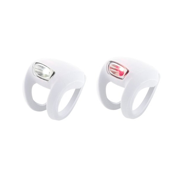 Knog Frog Strobe Front and Rear Twinpack Lights, White