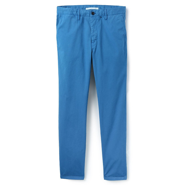 Norse Projects Men's Aros Light Twill Chinos, California Blue