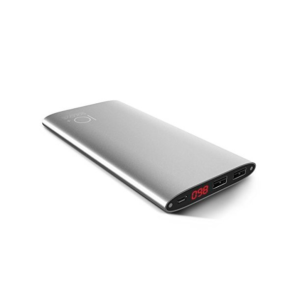 SoLove Roco 10000mAh  Dual USB External Battery Power Bank for Smartphones and Tablets - Silver
