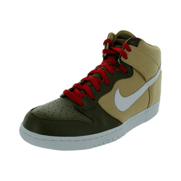 Nike Men's NIKE DUNK HIGH BASKETBALL (JERSEY GOLD/WHITE/IGUANA) (8.5)