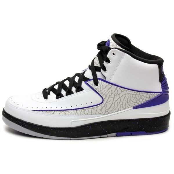 Jordan Mens Retro 2 White/Black-Dark Concord 385475-153 15