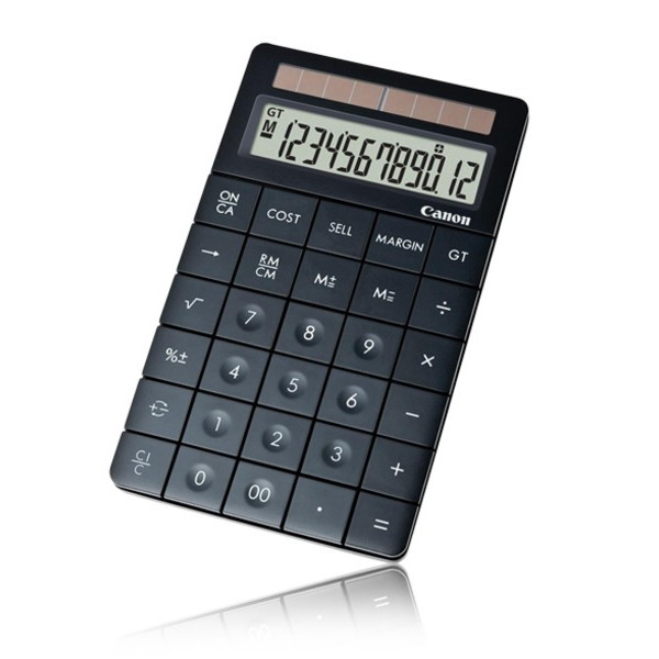 Canon X Mark I Premium Black Desktop Calculator