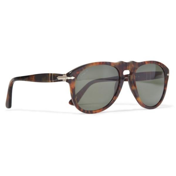 Persol Men's Classic Sunglasses, Tortoise Frame/Black Lens