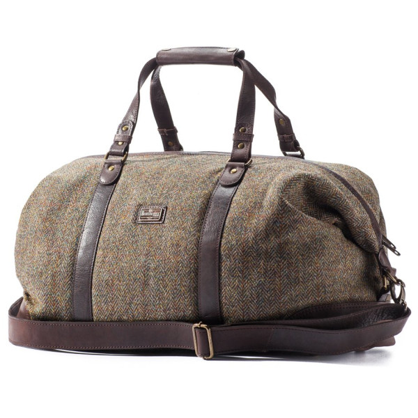 British Belt Co. Caledonian Weekender, Green and Grey Tweed