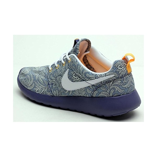 Nike Mens Rosherun Lib Qs Blue Recall/White-Atomic Mango 654165-401 5.5