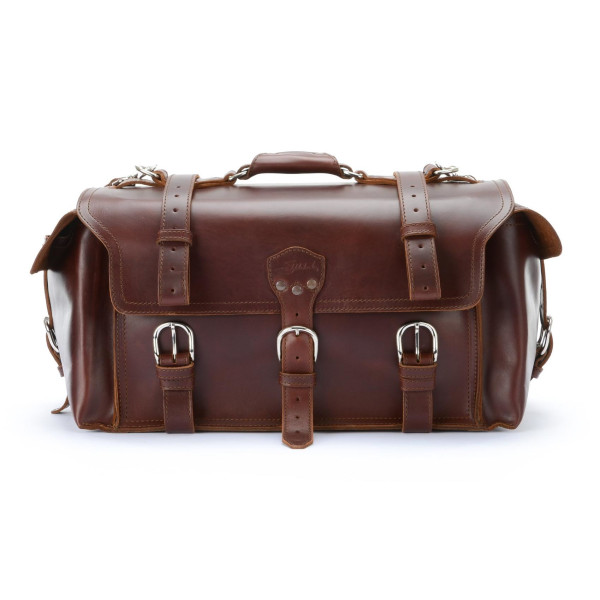 Saddleback Leather Side Pocket Duffel, Chestnut