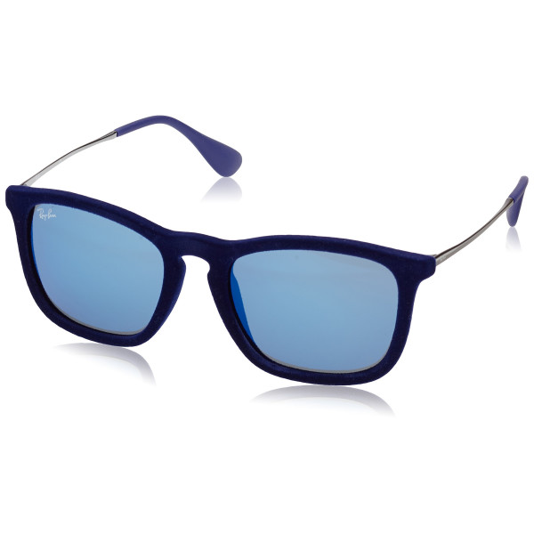 Ray-Ban Men's Chris Square Sunglasses, Flock Blue