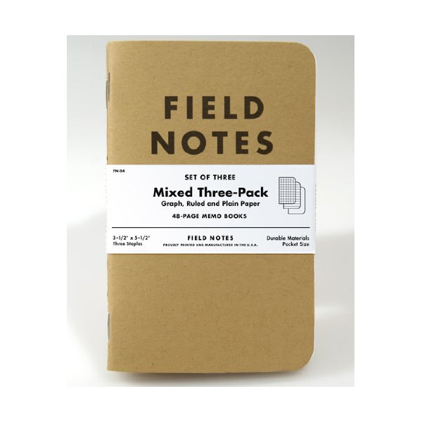 Field Notes Kraft Mixed 3-Pack