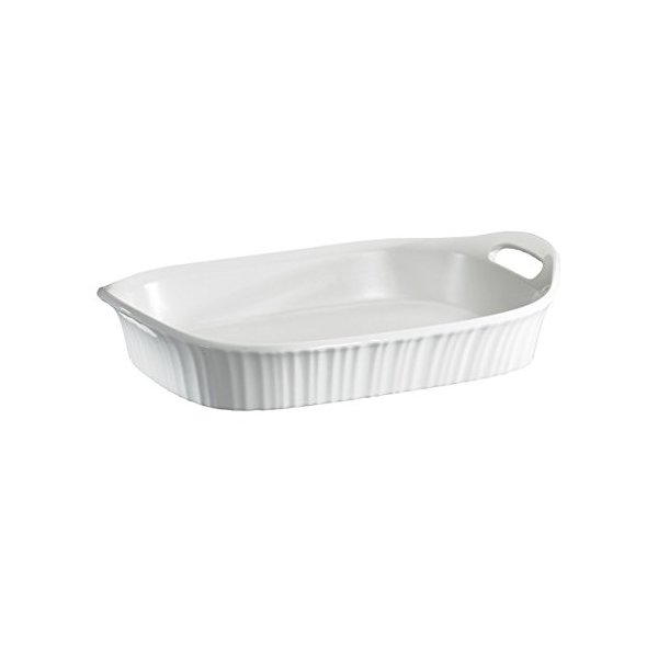 Cornigware French White Oblong Casserole, 3-Quart