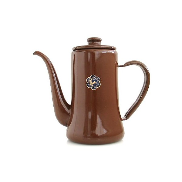 Coffee Slimpot the old porcelain enamel products 1.2 L