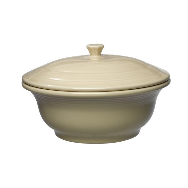 Fiesta 495-330 Covered Casserole, 70-Ounce, Ivory