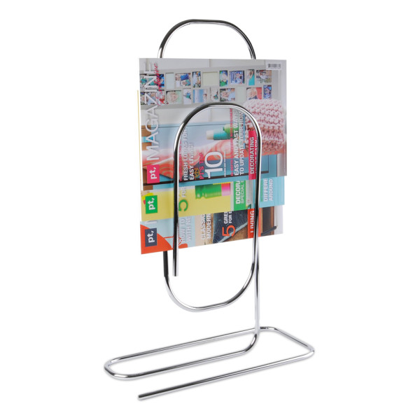 Present Time Metal Paperclip Magazine Rack