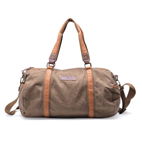 Gootium Thick Canvas and Leather Traveling Sports Duffle