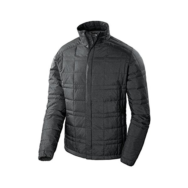 Sierra Designs Men's DriDown Jacket, Black Heather, Large