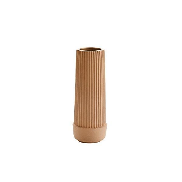Pleated Earthenware Vase