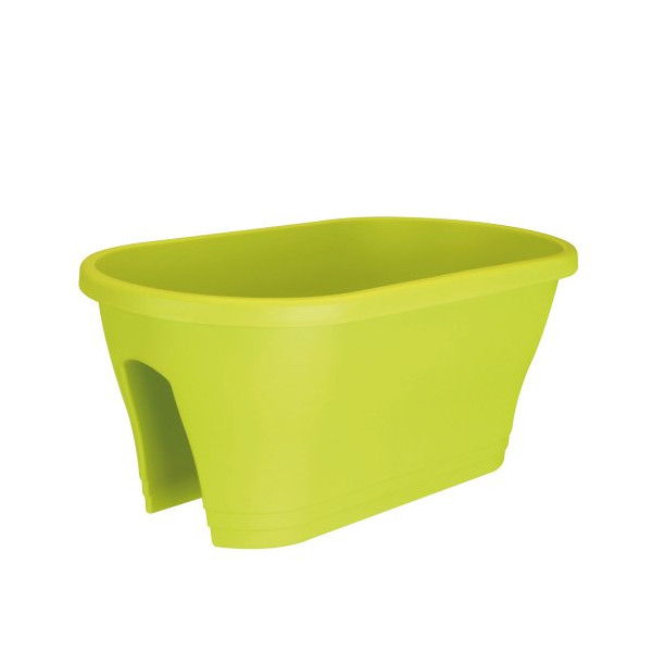 Exaco Corsica Oval Flower Bridge Planter, Lime Green