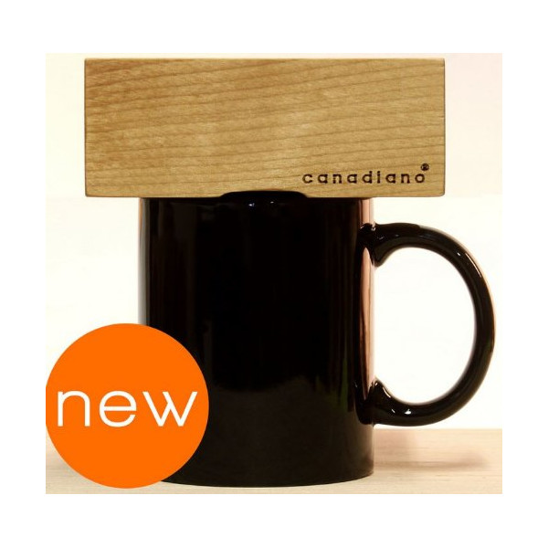Canadiano Premium Pour-Over Coffee Maker - Crafted Coffee; Personalized - Canadian White Ash Edition