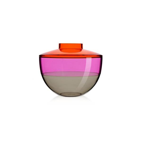 Kartell Shibuya Vase by Christophe Pillet,  Orange/Violet/Smoke