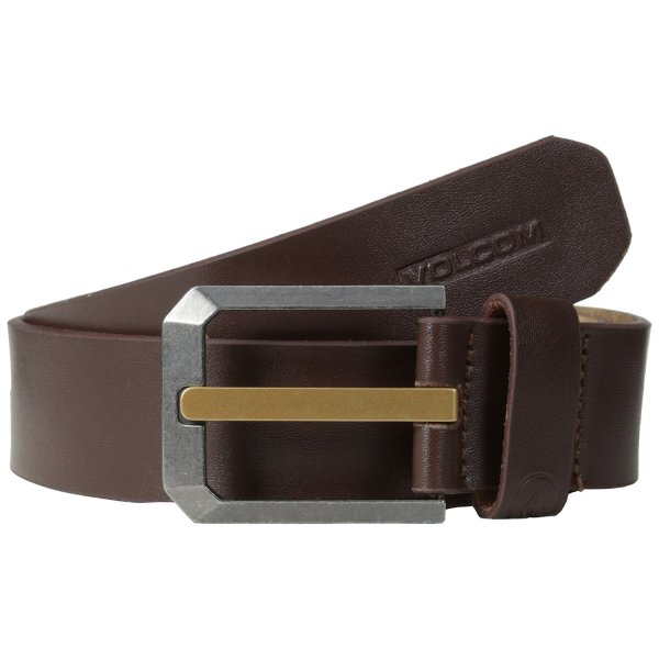 Volcom Mens Low Ball Belt Size 32 Color Brown