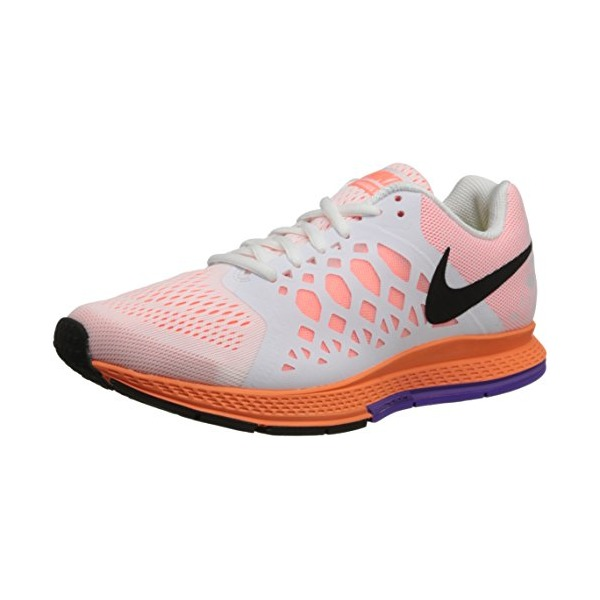 Nike Women's Zoom Pegasus 31 White/Black/Brght Mng/Hypr Grp Running Shoe 10 Women US