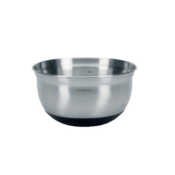 Brabantia Mixing Bowl, 1 Litre - Matt Steel