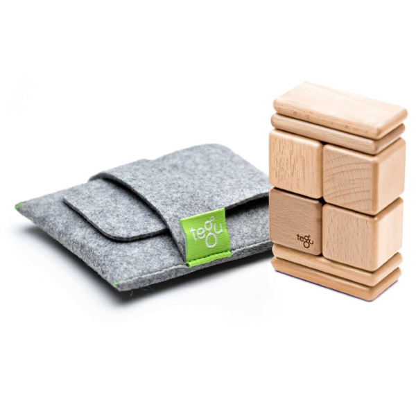8 Piece Tegu Pocket Pouch Magnetic Wooden Block Set