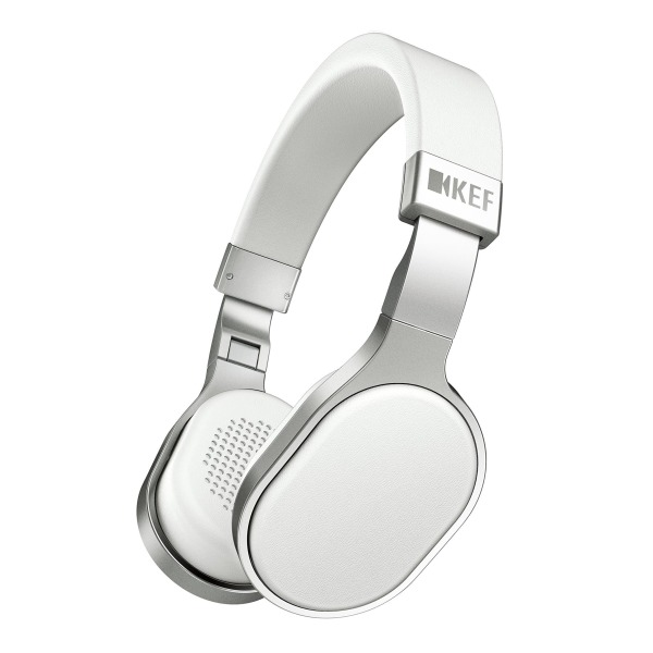 KEF M500 Hi-Fi On-Ear Headphones, Aluminum/White
