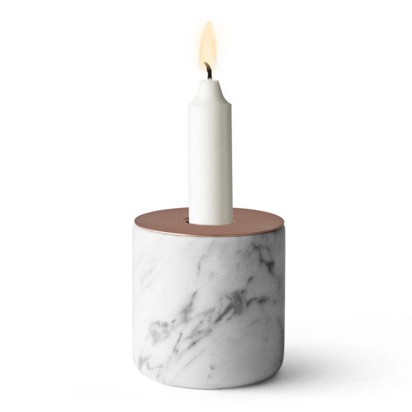 Menu Marble & Copper Candleholder, Large