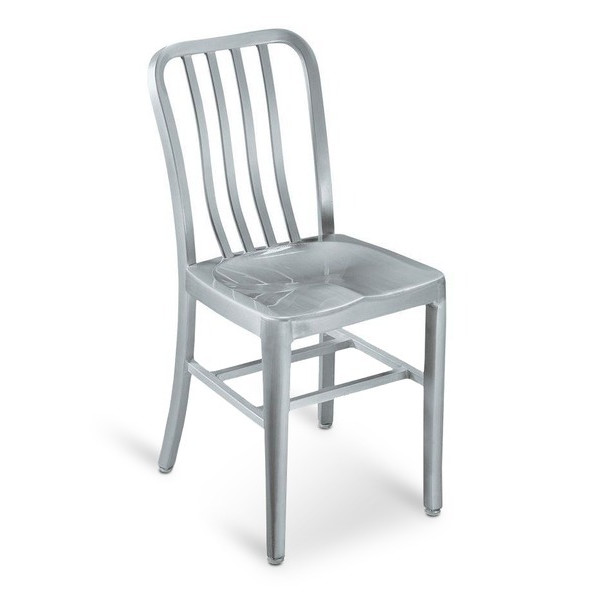 Sandra Side Chair, Brushed Aluminum