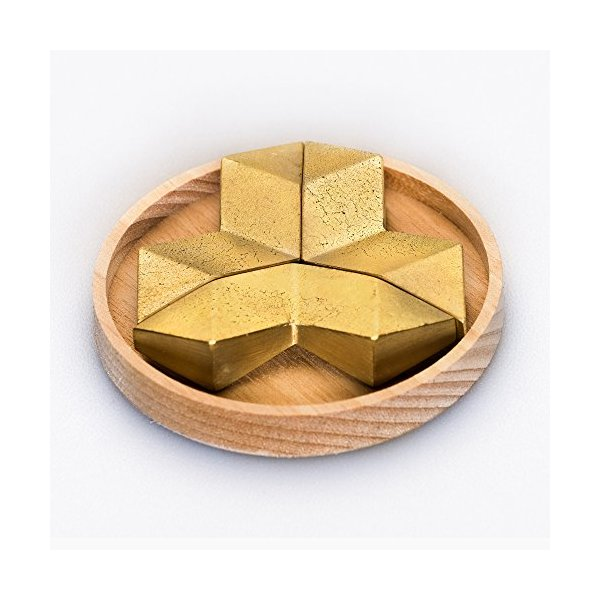 Futagami Solid Brass Chopstick Rest - Crystal Set of 3
