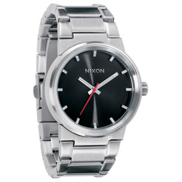 Nixon The Cannon Black and Silver Watch