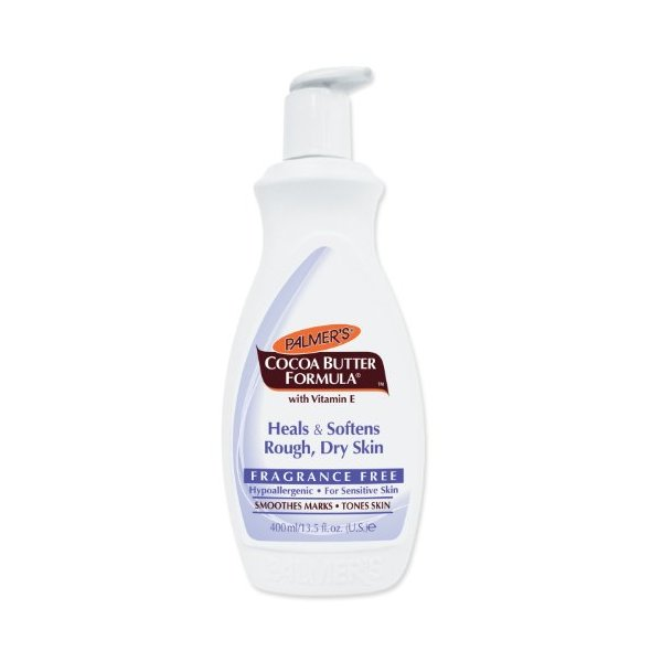 Palmer's Cocoa Butter Formula With Vitamin E Lotion Fragrance Free , 13.5-Ounce Bottle (Pack of 4)