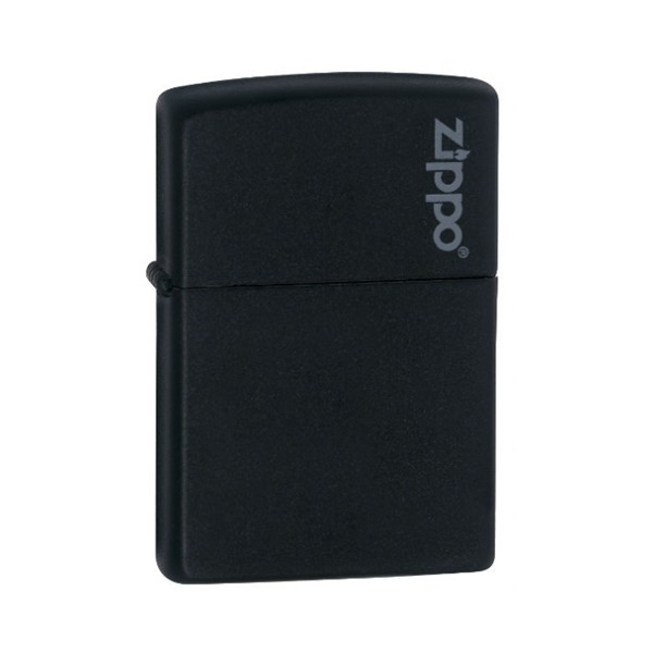 Zippo Logo Black Matte Pocket Lighter