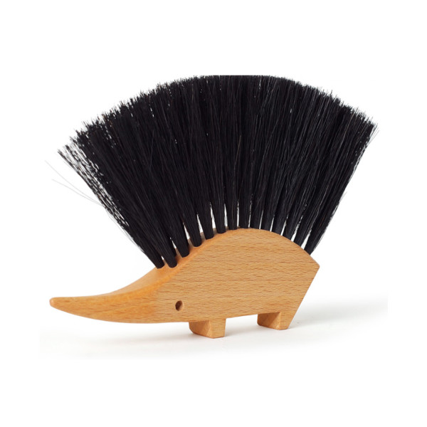 Redecker Hedgehog Table Brush, Natural Horsehair Bristles