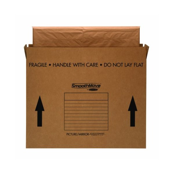 Bankers Box SmoothMove Picture/Mirror Box, Large, 48 x 4 x 33 Inches, 4 Pack (7711301)