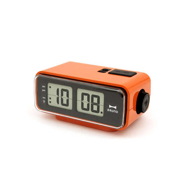 Retro Digital Flip Desk Alarm Clock, Orange