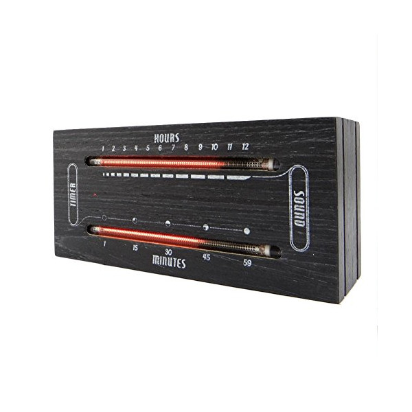 The Luminous Electronic Bargraph Clock (Dark Wood)