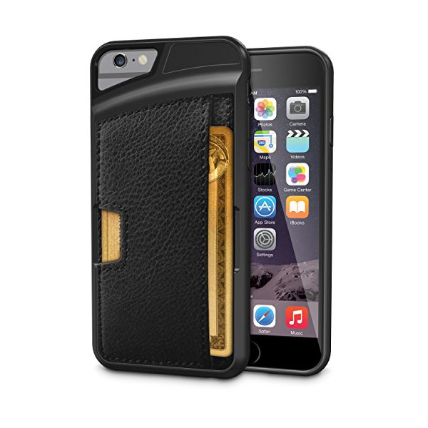 "iPhone 6/6s Wallet Case - Q Card Case for iPhone 6/6s (4.7"") by CM4 - Ultra Slim Protective Phone Cover (Black Onyx)"