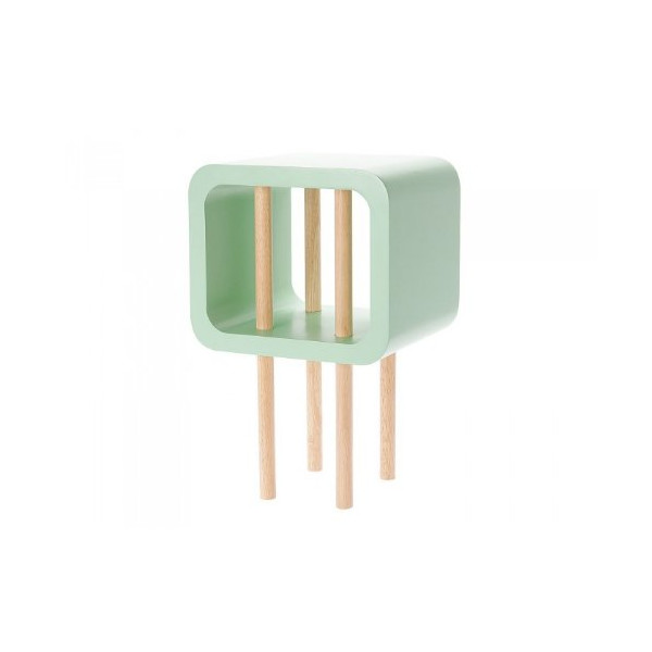 Present Time Leitmotiv Open Minded Side Table, Small, Mint Green