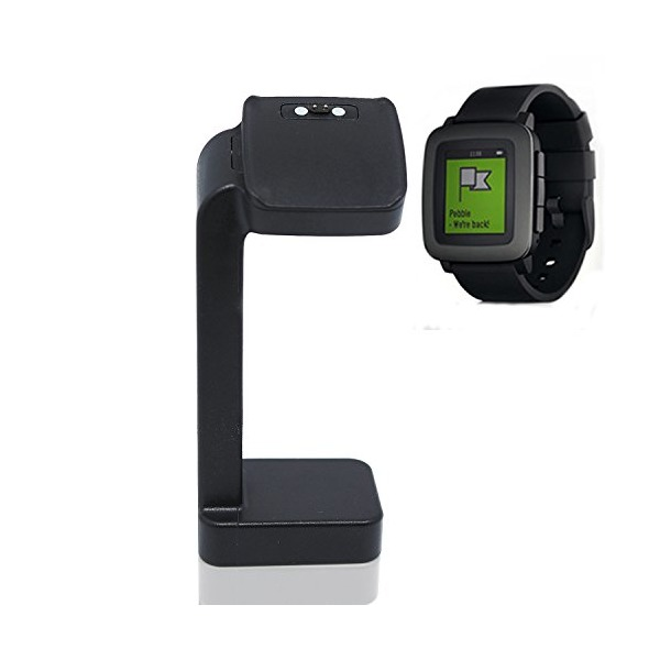 Lucco Pebble Time Smart Watch Charger Stand Platform Charging Station Dock (Not for Pebble Time Round)