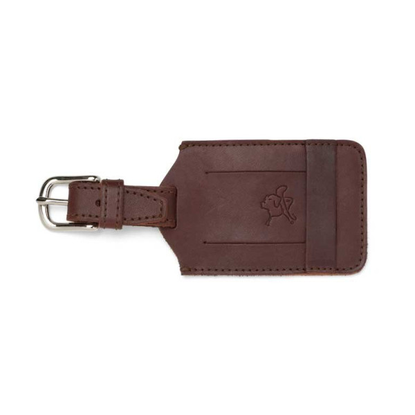 Saddleback Leather Luggage Tag, Chestnut