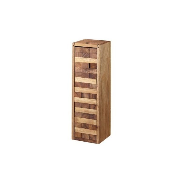 Large Tumbling Tower Game with a Wooden Box (12 Inch)