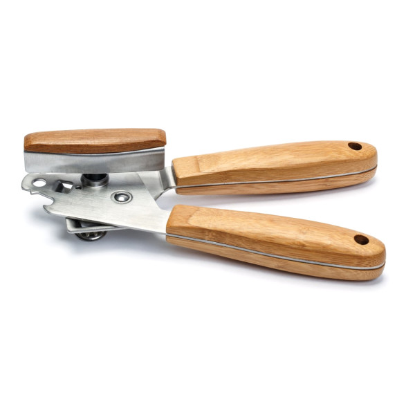 Can Opener Stainless Steel with Bamboo Wood Handle