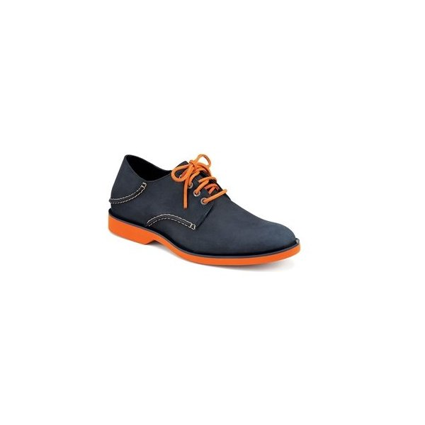 Sperry Top-Sider Men's Boat Oxford Neon,Navy/Orange Leather,US 7.5 M